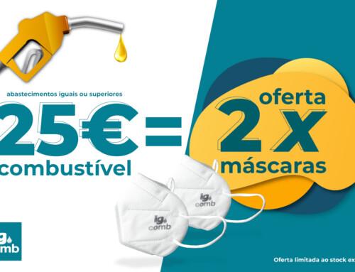 IG Combustíveis lança campanha nos seus postos com oferta de máscaras.
